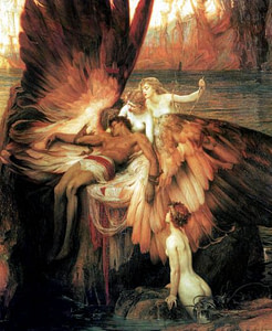The Lament for Icarus, by Herbert James Draper. 1898