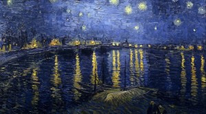 Starry Night Over the Rhone, by Vincent Van Gogh. 1888