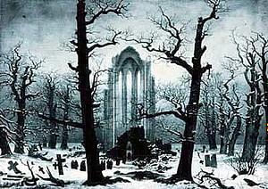Monastery Graveyard in the Snow